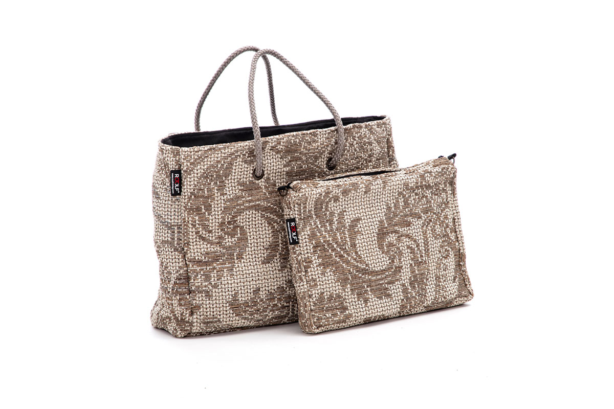 Damask Tasche taupe